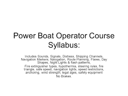 boat lights at night rules power boat operator course syllabus ppt video online download