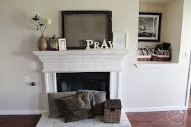 minimalist living room decoration using white stone shelves over