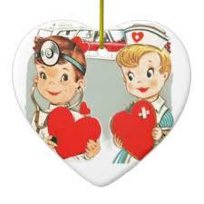 Nurse Christmas Ornament - heart shaped for nurse ceramic ornaments heart shaped for nurse