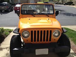 jeep wrangler 4 door orange wrangler tj before and after paint job
