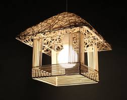 Decorative Light Fixtures by Rattan Lamp Etsy