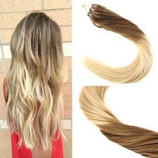 micro ring extensions micro ring loop remy human hair extensions ombre light brown to