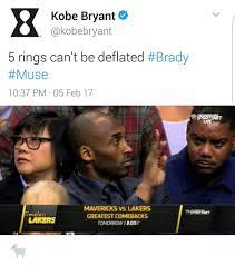 Muse Meme - kobe bryant akobebryant 5 rings can t be deflated brady muse
