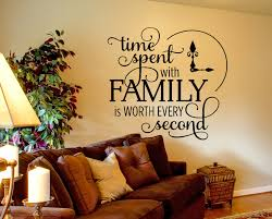 wall decals for living room time spent with family wall decals