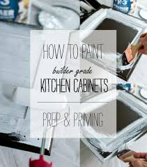 Kitchen Cabinet White by Painting Builder Grade Cabinets Prep U0026 Priming It All Started