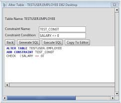db2 alter table add column db2 add constraint to db2 database tables via the alter table command