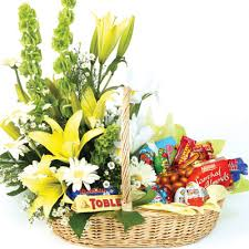 Flowers And Gift Baskets Delivery - chocolate pleasure flower basket flowers delivery manila