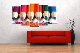 tableau deco chambre enfant tableau déco chambre enfant crayons en polyptyque toile photo eu