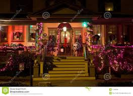 victorian porch at christmas royalty free stock images image