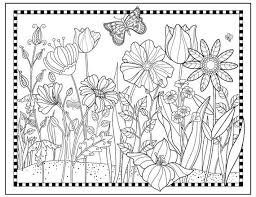 printable flower garden coloring page flowers to color magical