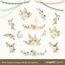 wedding flowers clipart rustic flowers clipart floral clipart floral bouquet wedding