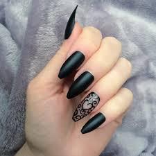 black matte rf heart long coffin u2013 doobys nails