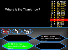 monastil titanic who wants to be a millionaire