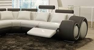 position canap canap d angle arrondi cuir free canap duangle de relaxation places