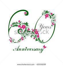 60 years birthday card 60 years anniversary happy birthday card stock illustration