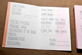 beautiful wedding programs s bright lettered wedding invitations