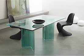Modern Glass Dining Table - Contemporary glass dining room tables
