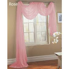 Light Pink Curtains by Qutain Linen Solid Viole Sheer Scarf Window Valance Topper 37
