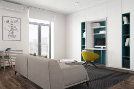 Living Room Office 3 Modern Style Apartments Under 50 Square Meters Includes Floor