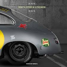 outlaw porsche 912 100 stock sticker car bone pl
