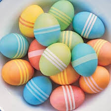 easter egg dye decorating easter eggs dyeing striped dotted and zigzag eggs