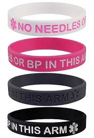 pink silicone bracelet images 4 pack lymphedema alert quot no needles or bp this arm jpg