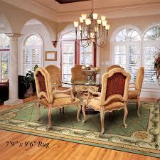 Round Table Rectangular Rug Jewel Fleur De Lis Rugs