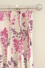 Plum Flower Curtains Wisteria Blossom Curtains By Sanderson Berry Plum Wallpaper Direct
