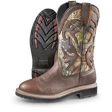 guide gear men u0027s whitetail camo wellington cowboy boots 627549