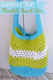 Free Crochet Patterns For Home Decor Summer Fun Market Or Beach Tote Free Crochet Pattern Summer