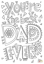 you u0027re the best dad ever coloring page free printable coloring pages