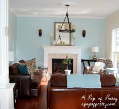 Blue And Brown Decor Blue And Brown Living Family Room House Decor Picture