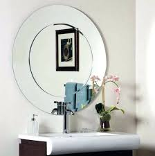How To Hang Bathroom Mirror Mounting Frameless Bathroom Mirror How To Hang A Decor Ideas On