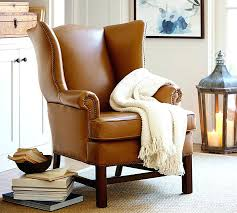 Restoration Hardware Recliner Wingback Leather Recliner From Restoration Hardware Ebth Wingback
