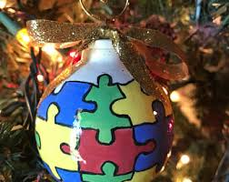 autism ornament etsy
