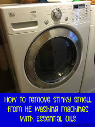 how to remove stinky smell from he washing machines