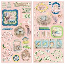 serendipity chipboard by bo bunny for scrapbooks cards crafting