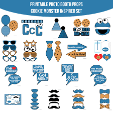 printable girly photo booth props instant download cookie monster inspired printable photo booth prop