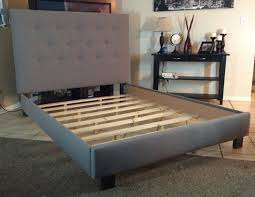 How To Build Bed Frame And Headboard Or Size Headboard And Bed Frame Gray Linen Upholstered
