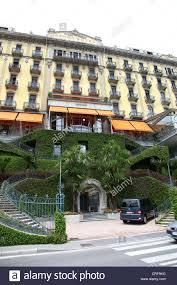grand hotel tremezzo lake como lombardy italian lakes italy stock