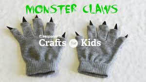 easy no sew monster claws halloween crafts for kids pbs