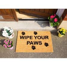 Wipe Your Paws Dog Doormat Wipe Your Paws With Pawprints Doormat Artsy Doormats Icon Cards