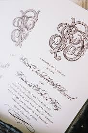 monogram wedding invitations and brown wedding invitation with intricate monogram