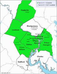 Map Of Loudoun County Text To 9 1 1 Fairfax County Virginia