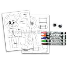 3d character activity kit cardboard paper toys coloring colouring