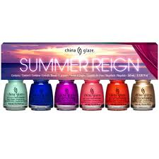 china glaze summer reign 2017 collection mini set 80023 6 x 3 6ml