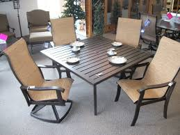 furniture chocolate wrought iron woodard patio furniture sets with