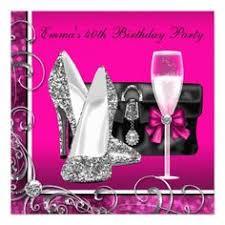 paris birthday invitations for women woman u0027s pink zebra 40th