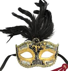 black and gold masquerade masks black and gold painted venetian masquerade mask with feathers