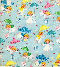 baby shower paper vintage baby shower wrapping paper 1950s by vintagebarrelgreet